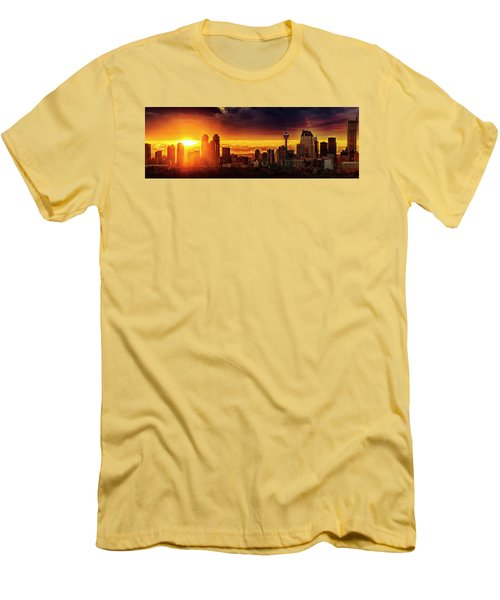 Men's T-Shirt (Slim Fit) featuring the photograph Jewel Of The Foothills by John Poon