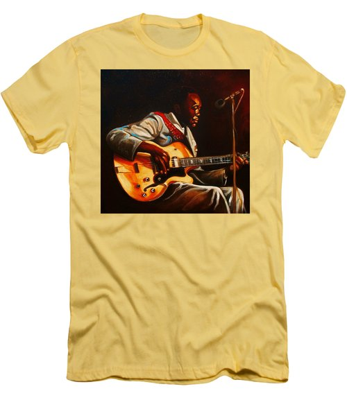 Men's T-Shirt (Slim Fit) featuring the painting John Lee by Emery Franklin