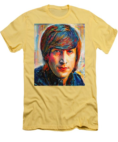 John Lennon Young Portrait Men's T-Shirt (Athletic Fit)