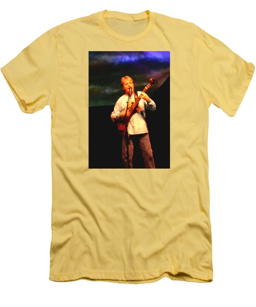Jon Anderson Of Yes Men's T-Shirt (Slim Fit) by Melinda Saminski