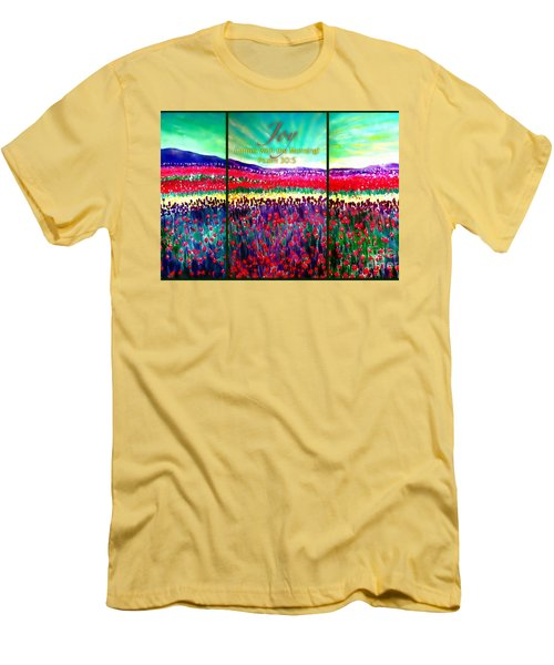 Joy Comes With The Morning Triptych  Men's T-Shirt (Athletic Fit)