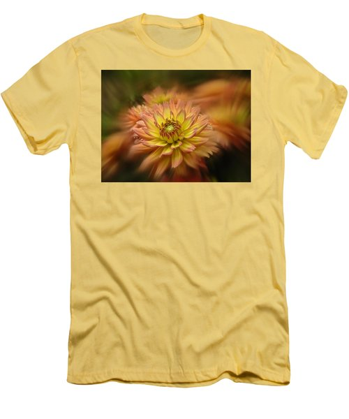 Men's T-Shirt (Slim Fit) featuring the photograph Juiy 2016 Dahlia by Richard Cummings