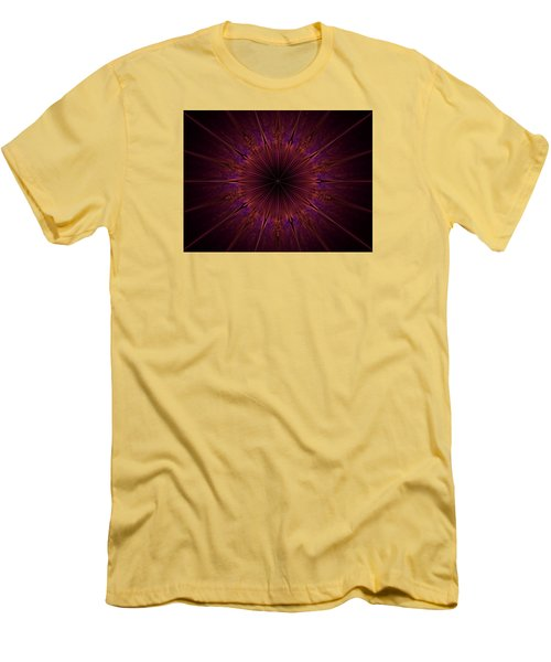 The Violet Blessings Of The Crown Chakra Men's T-Shirt (Slim Fit) by Ernst Dittmar