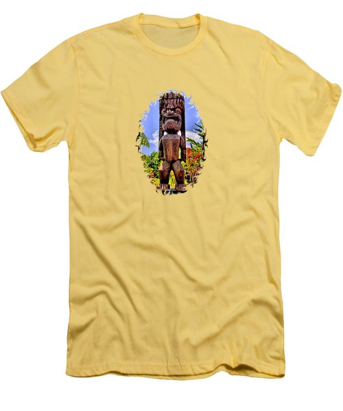 Kaanapali Tiki Men's T-Shirt (Slim Fit) by DJ Florek