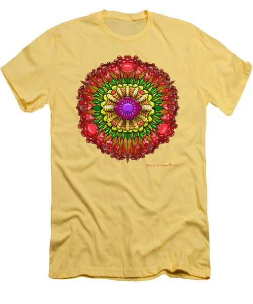Kaleido Flower W Berry Men's T-Shirt (Athletic Fit)