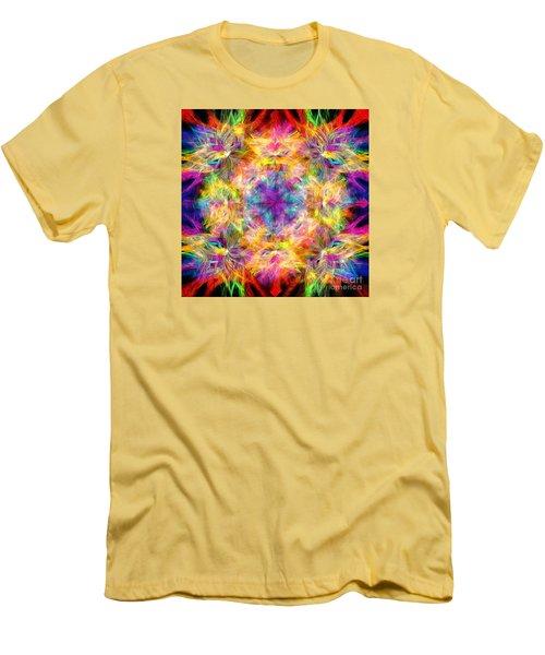 Men's T-Shirt (Slim Fit) featuring the photograph Kaleidos Quad Spiral Les Fleurs by Jack Torcello