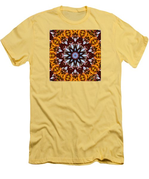 Kaleidoscope In Gold Men's T-Shirt (Slim Fit) by Marilyn Carlyle Greiner