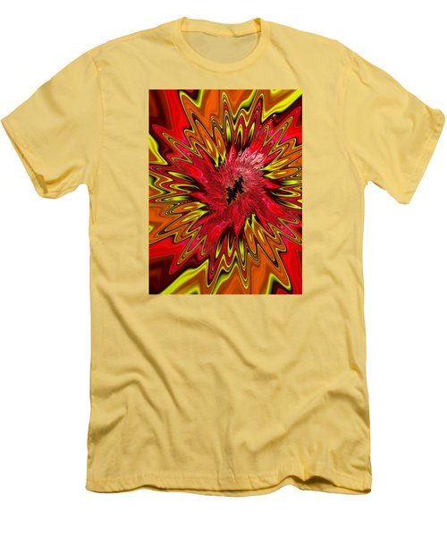 Men's T-Shirt (Slim Fit) featuring the photograph Kapowwie by Ronda Broatch