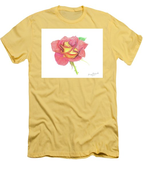 Ketchup And Mustard Rose Men's T-Shirt (Athletic Fit)