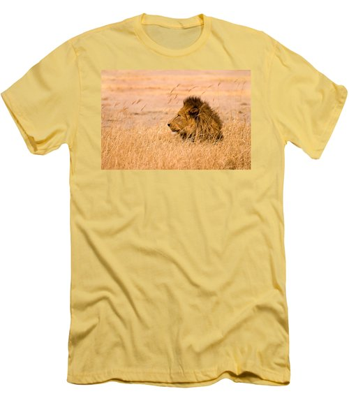 Men's T-Shirt (Slim Fit) featuring the photograph King Of The Pride by Adam Romanowicz