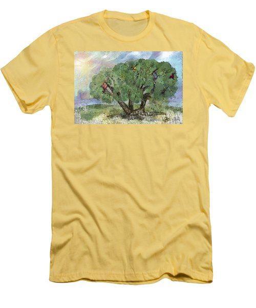 Kite Eating Tree Men's T-Shirt (Slim Fit) by Annette Berglund