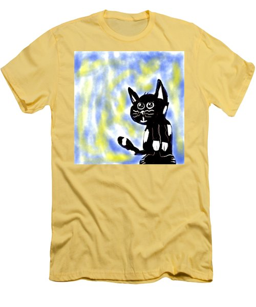 Kitty Kitty Men's T-Shirt (Slim Fit) by Paulo Guimaraes