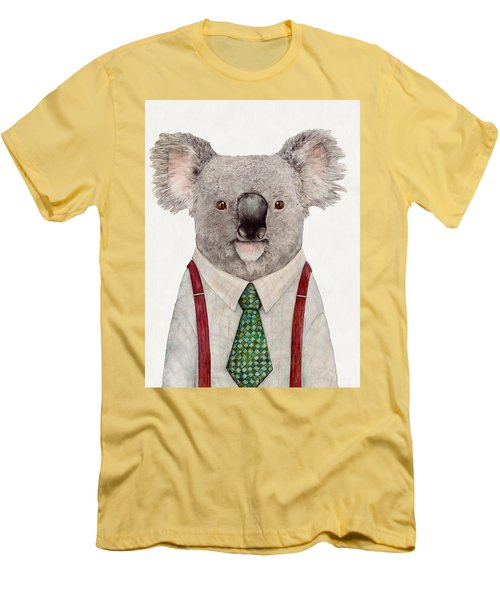 Koala Men's T-Shirt (Slim Fit) by Animal Crew