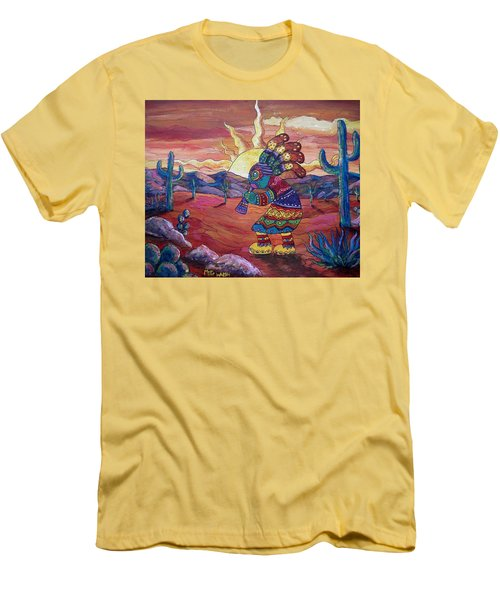 Kokopelli Sunset Men's T-Shirt (Slim Fit) by Megan Walsh