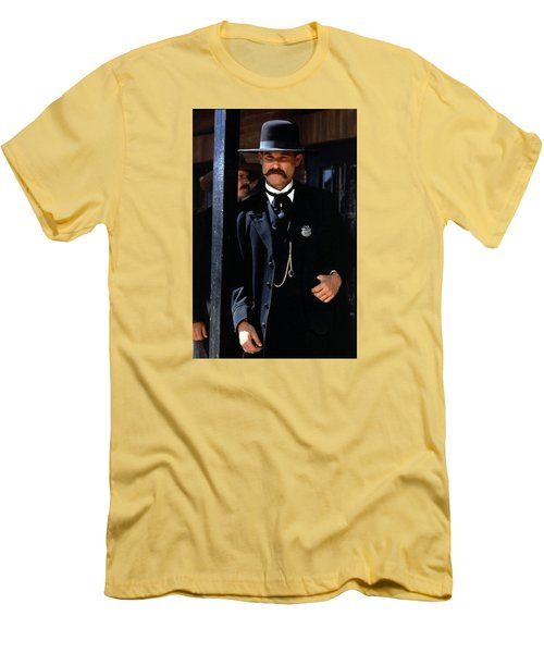 Kurt Russell As Wyatt Earp Tombstone Arizona 1993-2015 Men's T-Shirt (Slim Fit) by David Lee Guss