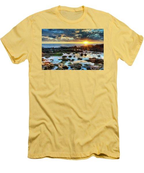 Laguna Beach Tidepools Men's T-Shirt (Slim Fit) by Eddie Yerkish