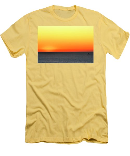 Lake Michigan Sunrise Men's T-Shirt (Athletic Fit)
