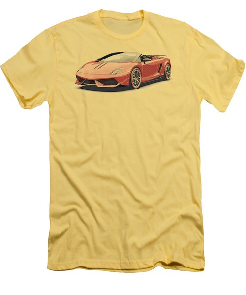 Lamborghini Gallardo - Parallel Hatching Men's T-Shirt (Athletic Fit)