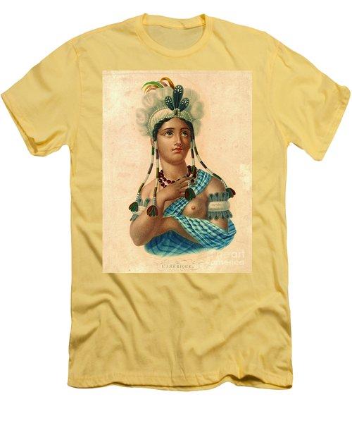 L'amerique 1820 Men's T-Shirt (Slim Fit) by Padre Art