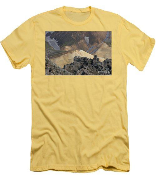 Landmannalaugar Iceland 3 Men's T-Shirt (Slim Fit) by Rudi Prott