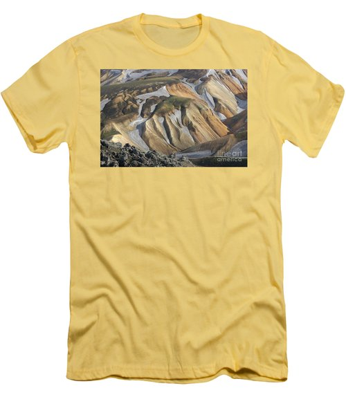 Landmannalaugar Iceland Men's T-Shirt (Slim Fit) by Rudi Prott