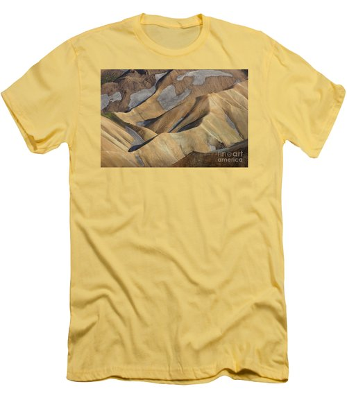Landmannalaugar Natural Art Iceland Men's T-Shirt (Slim Fit) by Rudi Prott