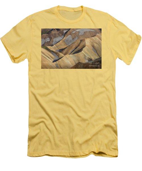 Landmannalaugar Natural Art Iceland Men's T-Shirt (Athletic Fit)