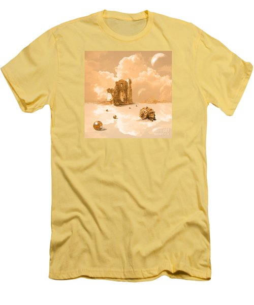 Men's T-Shirt (Slim Fit) featuring the digital art Landscape With Shell by Alexa Szlavics