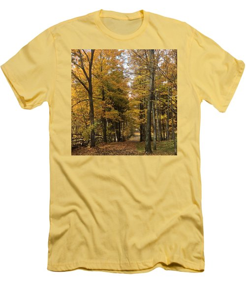 Men's T-Shirt (Slim Fit) featuring the photograph Lane by Pat Purdy