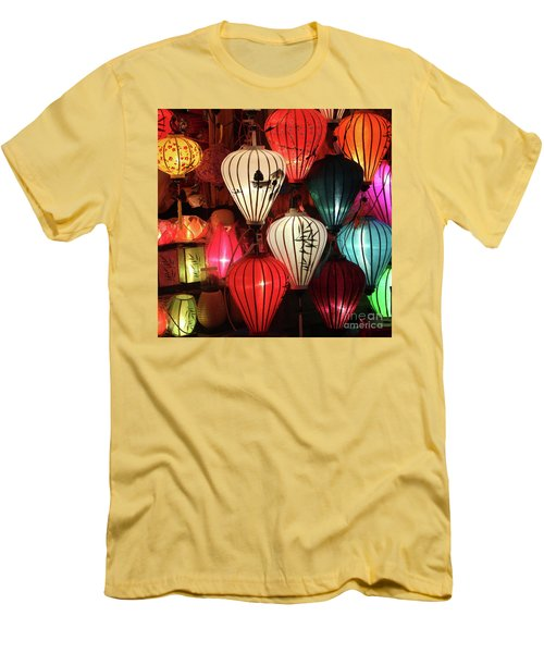 Lanterns Colors Hoi An Men's T-Shirt (Athletic Fit)