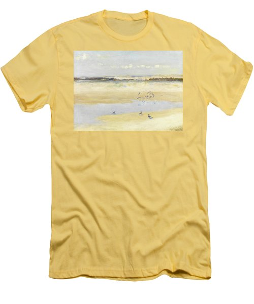 Lapwings By The Sea Men's T-Shirt (Slim Fit) by William James Laidlay