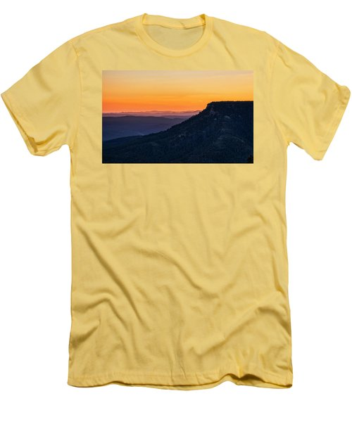 Men's T-Shirt (Athletic Fit) featuring the photograph Last Light On The Rim  by Saija Lehtonen