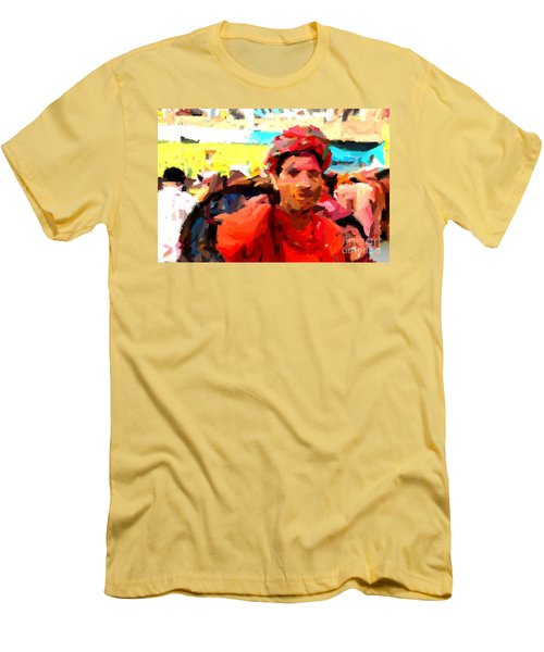 Lathmaar Holi Of Barsana-1 Men's T-Shirt (Athletic Fit)