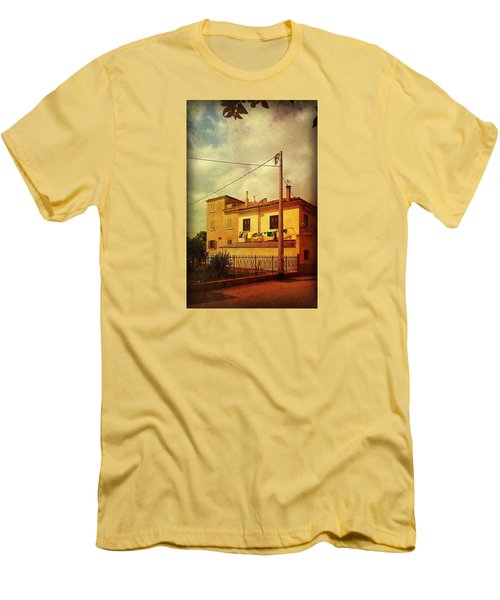 Men's T-Shirt (Slim Fit) featuring the photograph Laundry Day by Anne Kotan