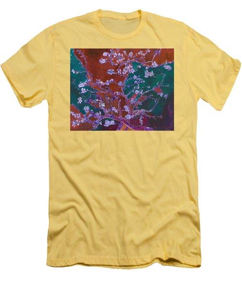 Layered 2 Van Gogh Men's T-Shirt (Slim Fit) by David Bridburg