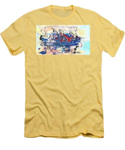 Laziness - Large Bright Pastel Abstract Art Men's T-Shirt (Slim Fit) by Modern Art Prints