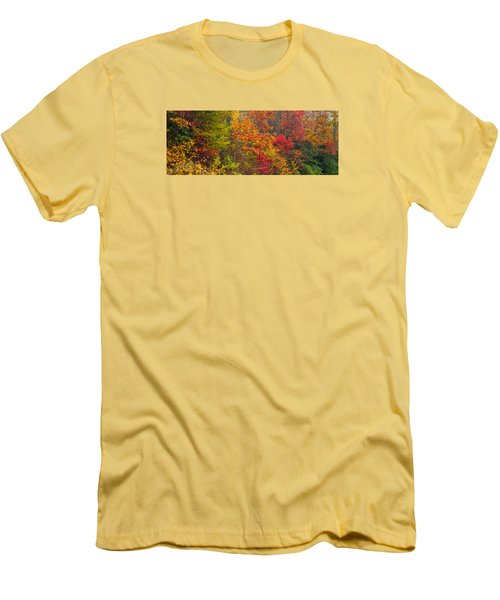 Men's T-Shirt (Slim Fit) featuring the photograph Leaf Tapestry by Rob Hemphill