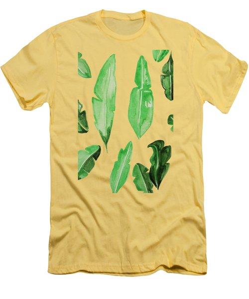 Leaves Men's T-Shirt (Slim Fit) by Cortney Herron