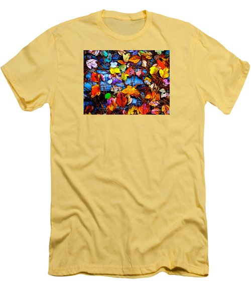 Men's T-Shirt (Slim Fit) featuring the photograph Leaves Of Colors  by Cathy Dee Janes