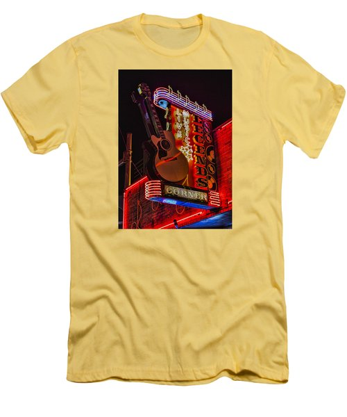 Legends Corner Nashville Men's T-Shirt (Slim Fit) by Stephen Stookey