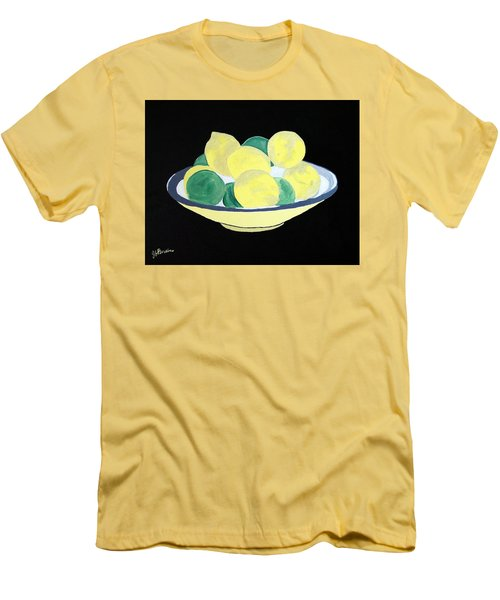 Lemons And Limes In Bowl Men's T-Shirt (Athletic Fit)