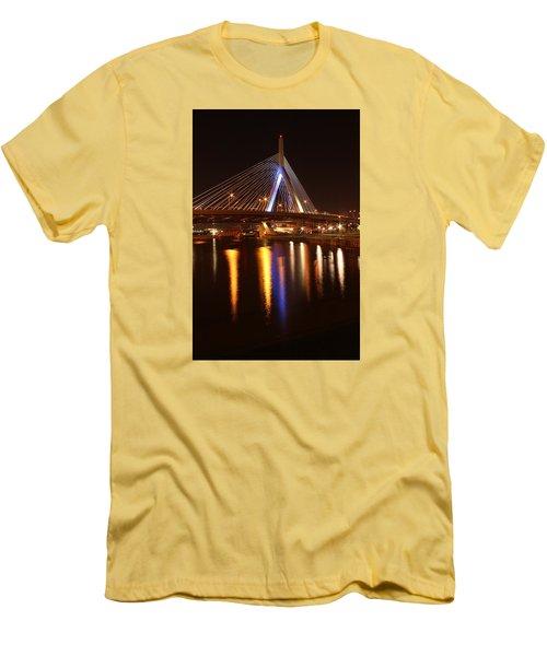 Leonard P. Zakim Bunker Hill Bridge Reflection 2 Men's T-Shirt (Athletic Fit)
