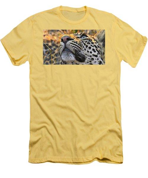 Leopard Aloft Men's T-Shirt (Athletic Fit)