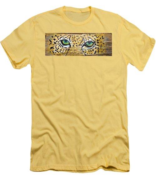 Leopard Eyes Men's T-Shirt (Slim Fit) by Ann Michelle Swadener