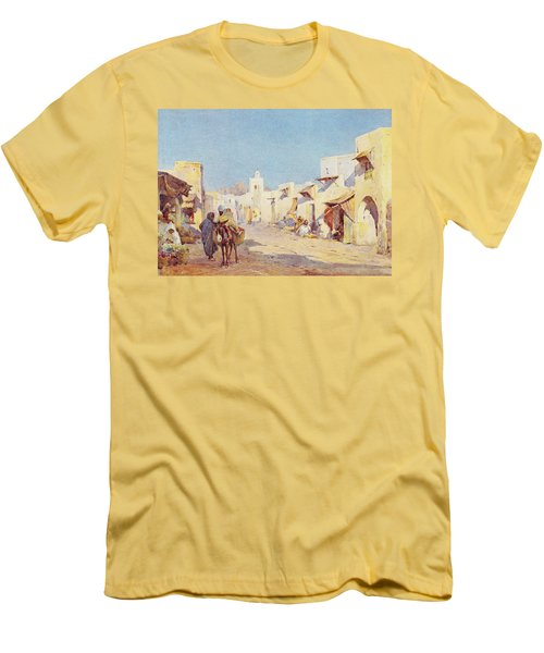 Men's T-Shirt (Slim Fit) featuring the photograph Leopold Carl Muller 1887 by Munir Alawi