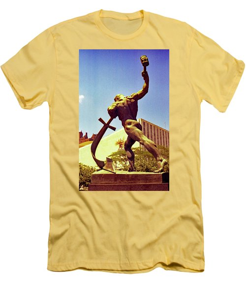 Let Us Beat Our Swords Into Plowshears Men's T-Shirt (Athletic Fit)