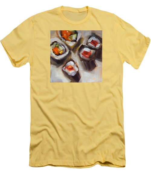 Let's Do Sushi Men's T-Shirt (Slim Fit) by Tracy Male