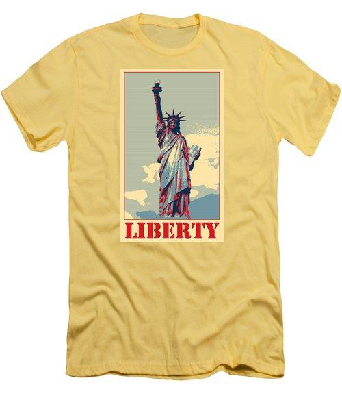 Liberty Men's T-Shirt (Slim Fit) by Richard Reeve