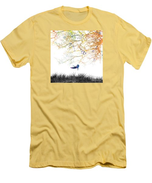 Men's T-Shirt (Slim Fit) featuring the painting Lift Off by Trilby Cole