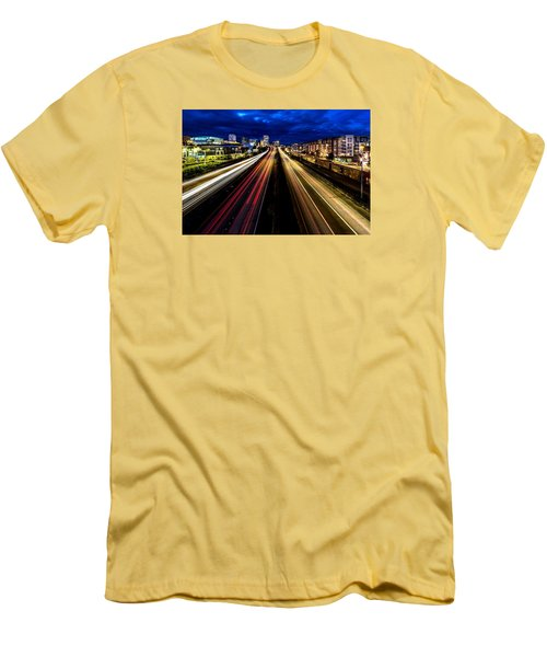 Men's T-Shirt (Slim Fit) featuring the photograph Light Streaks On 705 by Rob Green